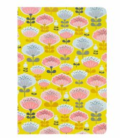 carnet mini labo, carnet jaune, fleurs