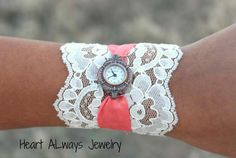 lace watch. this one looks even easier. just put your own watch over the lace.