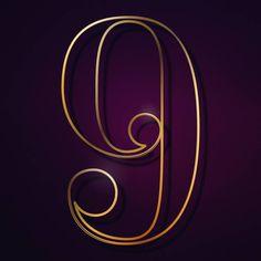 #36days_9 #36daysoftype #36days #36daysoftype_9 #9 #number9 #gold #purple #letter #number #elegant #luxury #shiny #illustration #illustrationart #illustrator #lettering #typo #type #lekrado #krado #calinradu #calin by lekrado