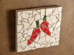 Chili Peppers Mosaic Art by tilechick on Etsy, $74.00