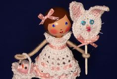 Easter Ellie - Clothespin Doll by creatingtreasures, via Flickr