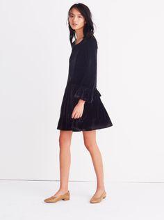 Velvet Bell Sleeve Dress