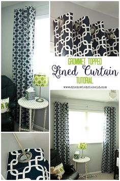 DIY Lined Grommet To
