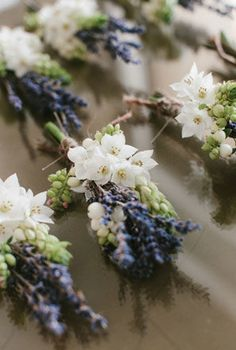 lavender boutonnieres for French themed wedding