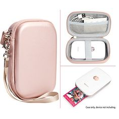 Protective Case for HP Sprocket Portable Photo Printer, Polaroid ZIP Mobile Printer, Lifeprint Photo AND Video Printer, Mesh Pocket for Photo Paper and Cable, Compact size Fashion Design (Rose Gold) Iphone Accessories, Travel Accessories, Polaroid Printer, Portable Photo Printer, Hp Sprocket, Mobile Printer, Cool Gadgets To Buy, Cute Room Decor, Coque Iphone