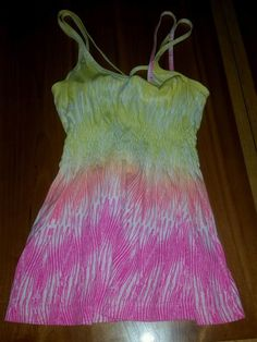 Womens Hurley Strappy Babydoll Tank Top S Ombre Pink/Yellow/Orange | Clothing, Shoes & Accessories, Women's Clothing, Tops & Blouses | eBay!