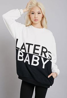 Rise Of Dawn Laters Baby Colorblocked Sweatshirt | FOREVER21 - 2000053936 I don't think anyone understands how much I want this.