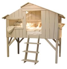 Lit Cabane couleur greige from lacorbeille. Saved to Home. Cool Beds For Kids, Dreams Beds, Bed Tent, Childrens Beds, Kid Beds, Play Houses, Kids Furniture, Boy Room, Kids Bedroom