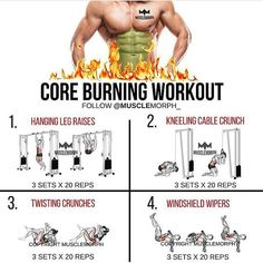 TRY THIS Core Burning workout LIKE/SAVE IT if you found this useful. FOLLOW @musclemorph_ for more exercise & nutrition tips  . TAG A GYM BUDDY . ✳Enhance your progress with @musclemorph_ Supplements ➡MuscleMorphSupps.com #MuscleMorph