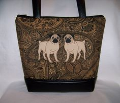 A personal favorite from my Etsy shop https://www.etsy.com/listing/507508011/double-pug-purse-in-beautiful-black
