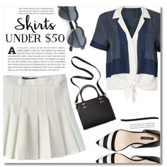 Skirts Under $50 by dolly-valkyrie on Polyvore featuring moda, Equipment, Humble Chic, under50 and skirtunder50