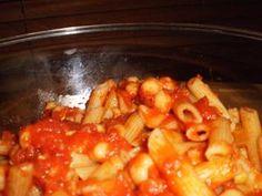 Pasta con ceci e pomodoro