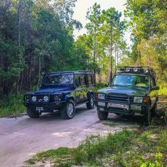"""""""Affectionately known as Brit & Paddy. By @angela_vaughn927 #landrover #Defender110CSW…"""""""