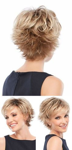 Bem na foto: O prático e jovial corte de cabelo curto repicado ⋆ De Frente Pa… Right on the photo: The practical and youthful short haircut with a highlight ⋆ With a view of the sea haircuts for women Right on the photo: short haircuts for women, Shaggy Short Hair, Short Shag Hairstyles, Short Thin Hair, Short Layered Haircuts, Short Hair With Layers, Short Hair Cuts For Women, Short Hairstyles For Women, Short Haircut, Cat Haircut