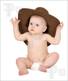 Baby with cowboy hat