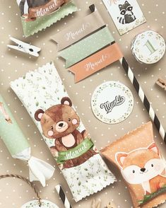 Do not miss this article from my store: Printable Kit Animals of the forest, Watercolors, terr Candy Bar Labels, Candy Bar Party, Party In A Box, Party Kit, Little Box, Personalized Candy Bars, Custom Candy, Birthday Party Decorations, Birthday Crafts