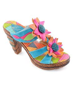 fd87a6191a Turquoise Elite Keely Leather Sandal by Corky s Footwear