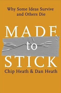 Made To Stick - Why Some Ideas Survive & Others Die - Cd Rom by Chip Heath,Dan Heath. our price Save Rs. Buy Made To Stick - Why Some Ideas Survive & Others Die - Cd Rom online, free home delivery. Good Books, Books To Read, My Books, Free Books, This Is A Book, The Book, Ring True, Thing 1, Along The Way