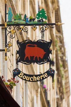 Ma vie á Paris: a trip to the butcher, three times a week.