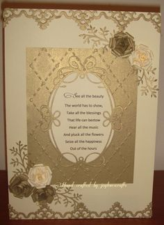Beautiful words of wisdom Beautiful Words, I Card, Blessed, Wisdom, Happy, Flowers, Crafts, Tone Words, Manualidades