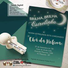 Convite Chá de Bebê Brilha Estrelinha para imprimir