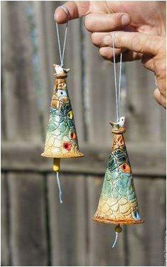 Ceramic bells /      -      Handmade  ,   #CeramicInteriorDesign click the image or link for more info..