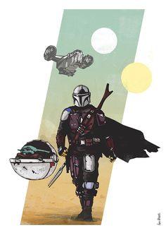 Star Wars Comics, Star Wars Art, Boba Fett Mandalorian, Star Wars Wallpaper, Baby Art, Marvel Art, Crafty Craft, Disney Cartoons, Cool Art