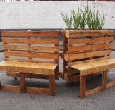 Love these recycled pallet benches in South Africa! http://bit.ly/1tSpbmg
