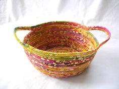 Florida Sunrise Coiled Fabric Bowl by @zizzybob on @Etsy.com #handmade #decor
