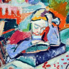 Girl Reading (detail) by Henri Matisse   Lone Quixote