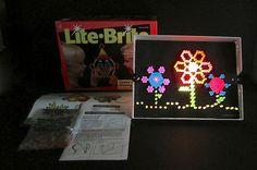 Vintage 1993 Milton Bradley Lite-Brite Box Pegs Instructions Sheets  #MiltonBradley #LiteBrite #Vintage