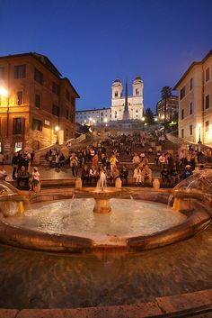 Spanish steps, I bought some leather gloves at a cute shop near the bottom of the steps.