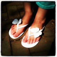 Butterfly Crystal Flip Flops!