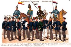 German Troops in 1900 from a series by Moritz Ruhl.  See all of them at www.uniformology.com