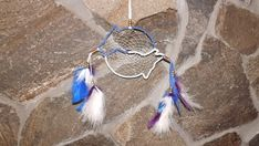 Double wolf dream catcher, shipping included with in USA