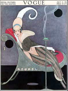 Vogue magazine cover, July 1914