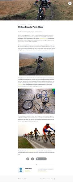 Online Bicycle Parts Store Cycling Accessories, Sky News, Bicycle Parts, Store, Larger, Shop