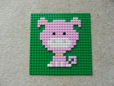 Nursery animal picture, farm animal picture, cross stitch pattern, lego mosaic, baby shower gift Farm Animals Pictures, Lego Pictures, Mosaico Lego, Lego Mosaic, Lego Challenge, Lego Activities, Lego Craft, Nursery Pictures, Lego For Kids