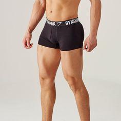 Gymshark Mens Trunks 2pk - Black Gym Fashion 3a1e1b26db
