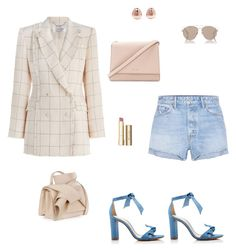 """Untitled #62"" by cristinestyle on Polyvore featuring Zimmermann, Alexandre Birman, GRLFRND, Kate Spade, N°21, Christian Dior, Monica Vinader and Stila"