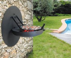 : Easy to mount on any wall, the Sigma Focus Barbecue features a wall plate that protects the wall from smoke. While at a fixed height on the wall, the barbecue offers a range of cooking heights. Bbq Grill, Grilling, Barbecue Area, Barbecue Sauce, Design Barbecue, Parrilla Exterior, Ski Chalet, Outdoor Living, Outdoor Decor