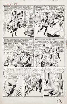 Stan Lee, Jack Kirby, Paul Reinman, Sam Rosen | X-Men #1, page 16, 1963. Original page, uncoloured. | #comics #marvel