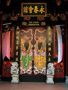 Melaka, Malaysia Lagoon Park, Chinese Door, Travel Sights, Park Resorts, Chinese Architecture, Grand Entrance, Borneo, Stairway, Doorway