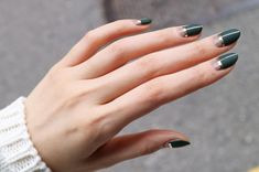 Dark olive by Unistella Gallery Ideas] Related Want to see new nail art? These nail designs are really great Picture you're looking for some cute nail art designs, you are at the right Nail Art For Christmas Ideas 61 Nail Art Designs, Latest Nail Designs, Nails Design, Stylish Nails, Trendy Nails, Hair And Nails, My Nails, Olive Nails, Fall Manicure