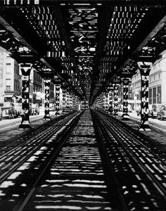 by Sam Shaw Under the El, New York City, 1952
