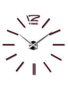 Kreativní nástěnné hodiny - ALETHA COLOR RAL3005 RED