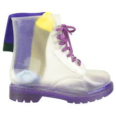 Clear / see through rain boots. Clear Rain Boots, Shoe Boots, Shoe Bag, Shoes, Doc Martens, Womens Flats, Combat Boots, High Top Sneakers, Lace Up