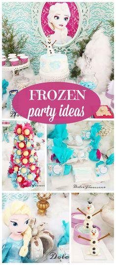 Perfect for a Disney Frozen Party #frozen #disneyfrozen #frozenparty #party #kidsparty #birthdaypartyideas