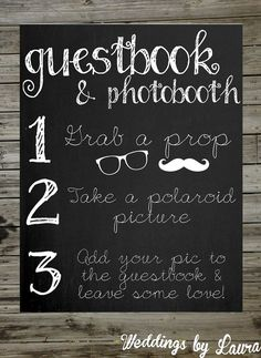 photo booth guest book - Google Search