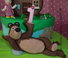 Katty's cakes - Le torte di Katty : Torta Masha e Orso - Masha and Bear Cake
